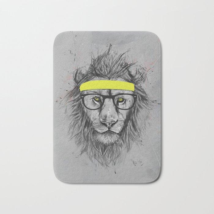 hipster lion Bath Mat