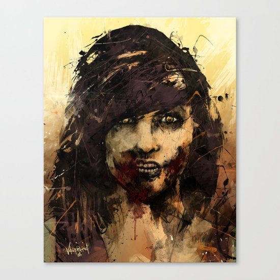 Female Zombie Canvas Print