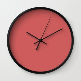 Indian Red Wall Clock