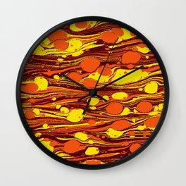 Hot lava Wall Clock