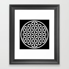 Flower of Life Yin Yang Framed Art Print