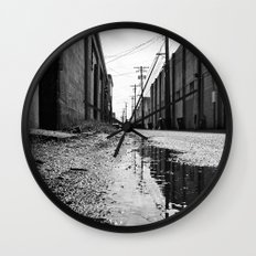 Gritty Tacoma alley Wall Clock