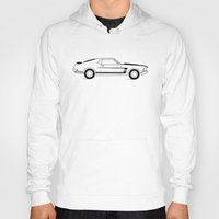 mustang Hoodies featuring Mustang Boss by Adil Siddiqui