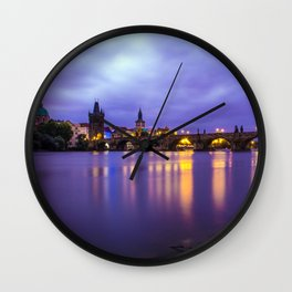 Blue Mornings Wall Clock