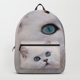 White kitten Backpack