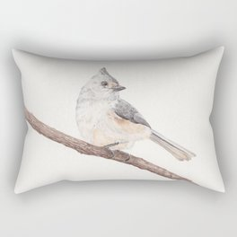 Tufted Titmouse Rectangular Pillow