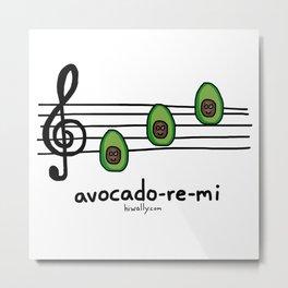 avocado-re-mi Metal Print