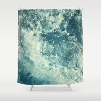 friends Shower Curtains featuring Water I by Dr. Lukas Brezak
