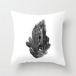 Obsidian House Throw Pillow