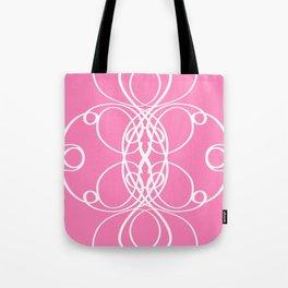 Pink White Swirl Tote Bag