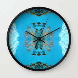 all that glitters is not goldfish Wall Clock