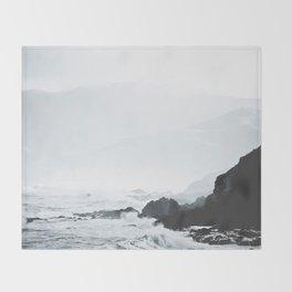 Sea Waves Seascape, Ocean Waves Photography, Sea Coast, Sea Beach Tapestry, Pillow etc Throw Blanket