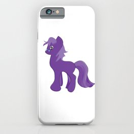 Sweet Cute Purple Little Baby Unicorn. iPhone Case