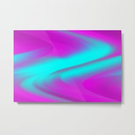 DREAM PATH (Purples, Fuchsias & Turquoises) Metal Print
