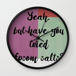 Epsom salts! Wall Clock