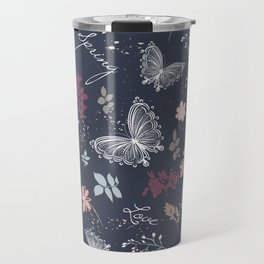 Pretty provance floral pattern in rustic style Travel Mug