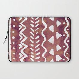 Loose boho chic pattern - purple brown Laptop Sleeve
