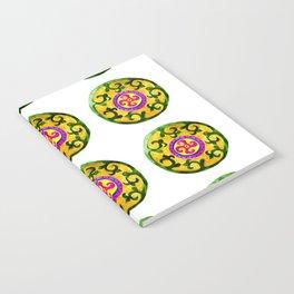 ethnic pattern yellow Notebook