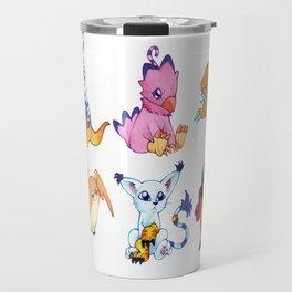 Digimon Group Travel Mug