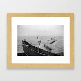 film boat Framed Art Print
