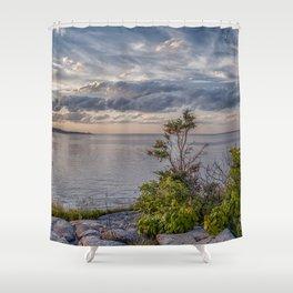 Headlands Sunset Pano 6-9-18 Shower Curtain