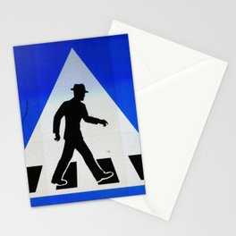 Well Dressed Man Crossing Stationery Cards