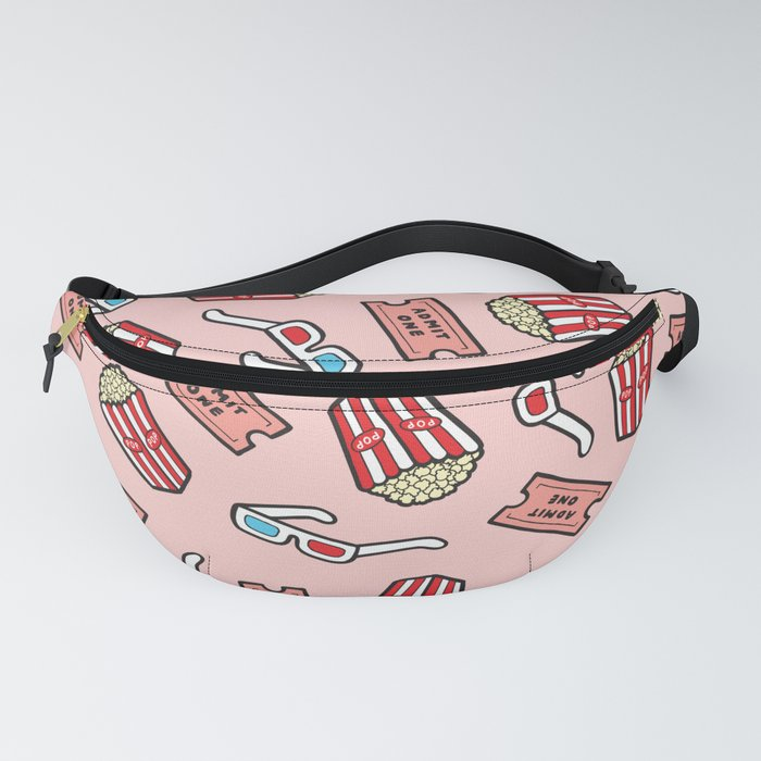 Movie Pattern in Pastel Pink Fanny Pack