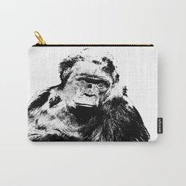 Gorilla In A Pensive Mood Portrait #decor #society6 Carry-All Pouch