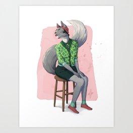 Catgirl Art Print