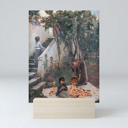 John William Waterhouse - The orange gatherers Mini Art Print