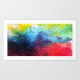 Colorful Abstract by Tom Toy - Original Abstract Acrylic Painting on Canvas  Art Print