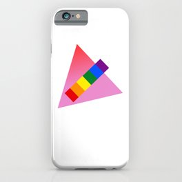 Abstract LGBT pink triangle gay pride season queer art gift iPhone Case
