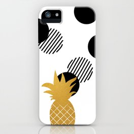 Gold Pineapple abstract iPhone Case