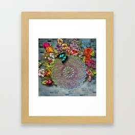 Mandala Flower Framed Art Print