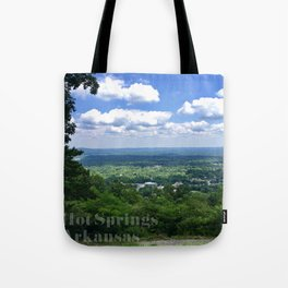 Scenic overlook of Hot Springs Arkansas Tote Bag