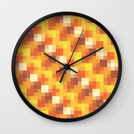 Sunset Pixels Wall Clock