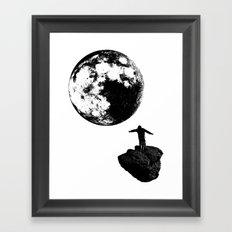 Boy and the Moon Framed Art Print