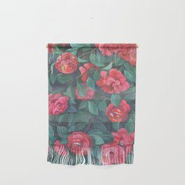 Camellias, lips and berries. Wall Hanging