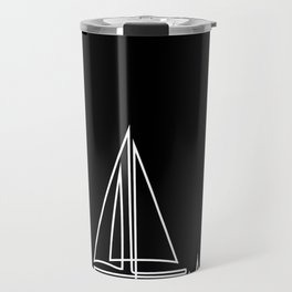 Sailboat Heartbeat Cool Gift for Sailors and Captains Premium design Travel Mug