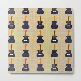 """G'tar Thangs"" guitar pattern Metal Print"