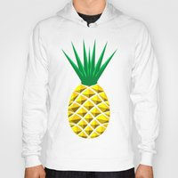 pineapple Hoodies featuring Pineapple by mailboxdisco