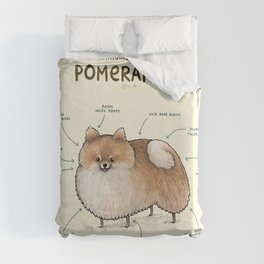Anatomy of a Pomeranian Duvet Cover
