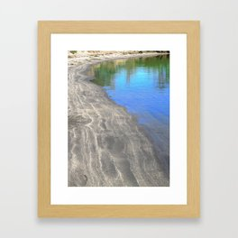 At The Edge Of The Water Framed Art Print