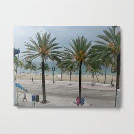 Beach View Metal Print