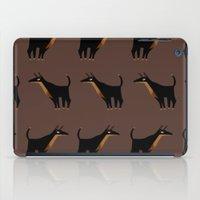 doberman iPad Cases featuring Doberman - Pattern by Reimena Ashel Yee