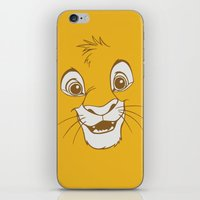 simba iPhone & iPod Skins featuring Simba  by Luxatr