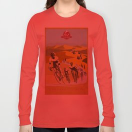Strade Bianche retro cycling classic art Long Sleeve T-shirt