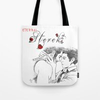 sterek Tote Bags featuring Eternal Sterek by MGNemesi