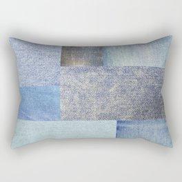 Beautiful Patch 4 (Denim) Rectangular Pillow