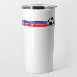 2018 Soccer Cup Russia Flag RUS Championship Black Travel Mug